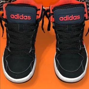 Adidas Boys' BB9TIS Mid K, BlK/Infrared/White SZ 1